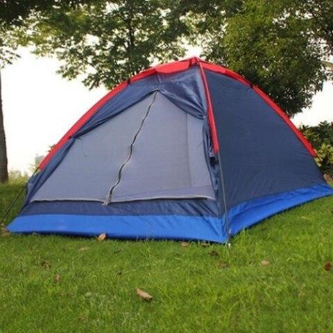 barraca de acampamento dupla ao ar livre