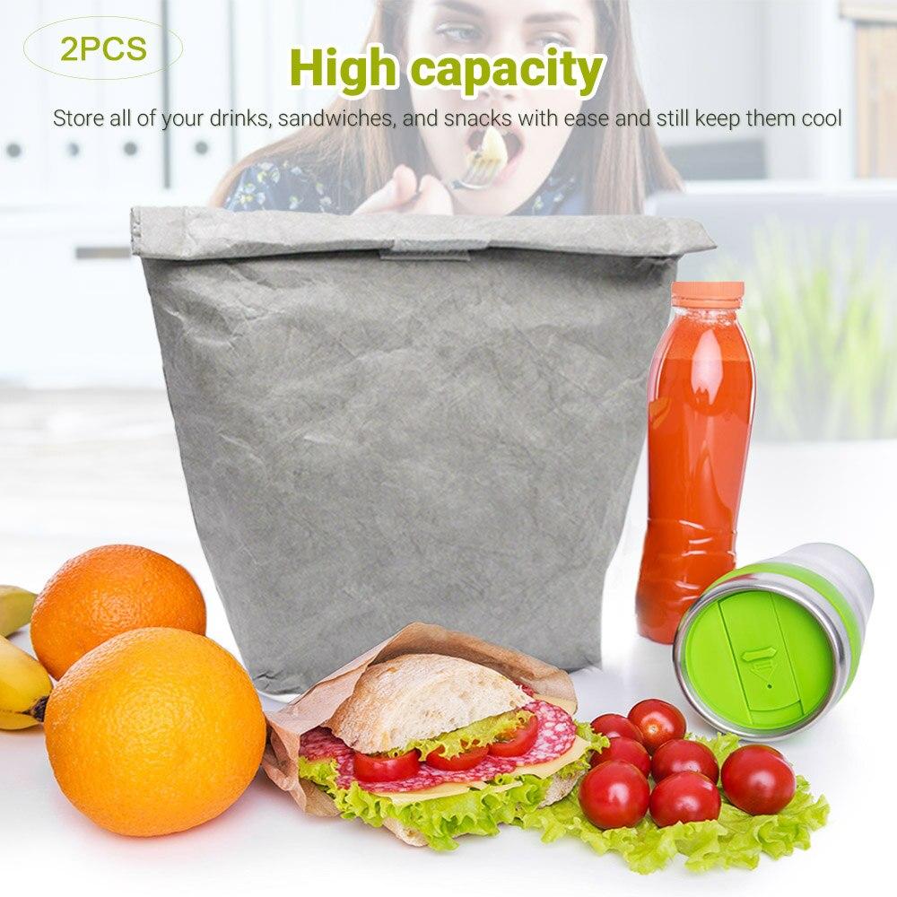Contenedor de almacenamiento de alimentos con tapas Large-2pcs