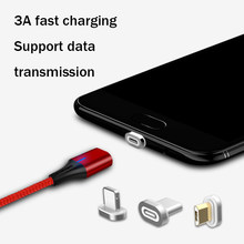 Magnetic Fast Cable Micro USB Charging Phone Android Data Cable Wire 3A Magnet Charger For Samsung Xiaomi Huawei Mobile(China)
