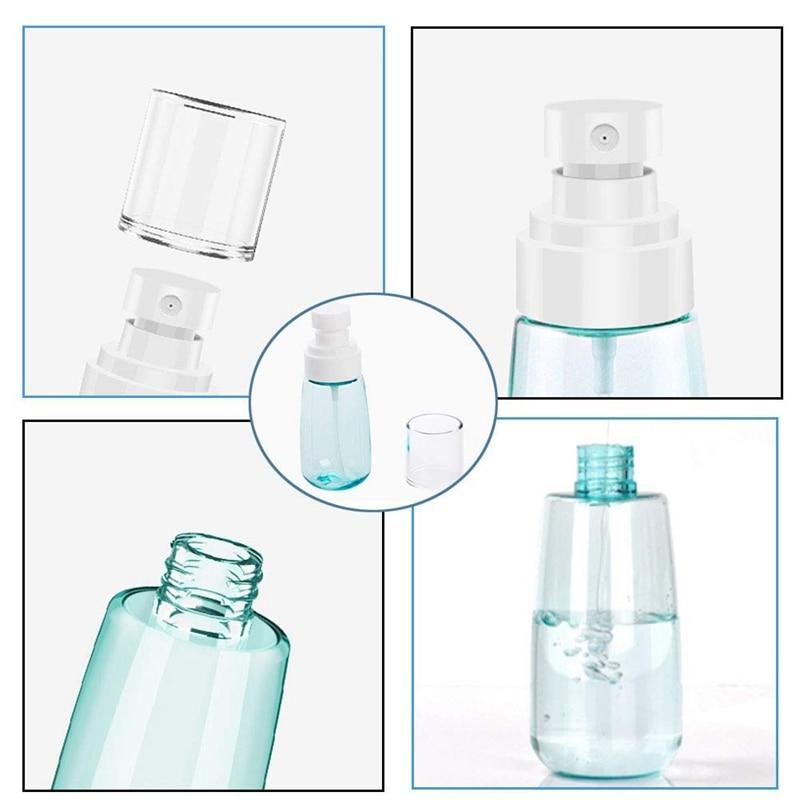 10 PCS Portable Refillable Plastic Fine Mist Perfume Spray Bottle Transparent Empty Spray Sprayer Bottle, 100Ml-2