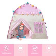 Палатка игровой домик 3-4 Детская домашняя игрушка детский замок игровой домик для девочек подарок на день рождения Пляжная палатка на молнии подарки для девочек