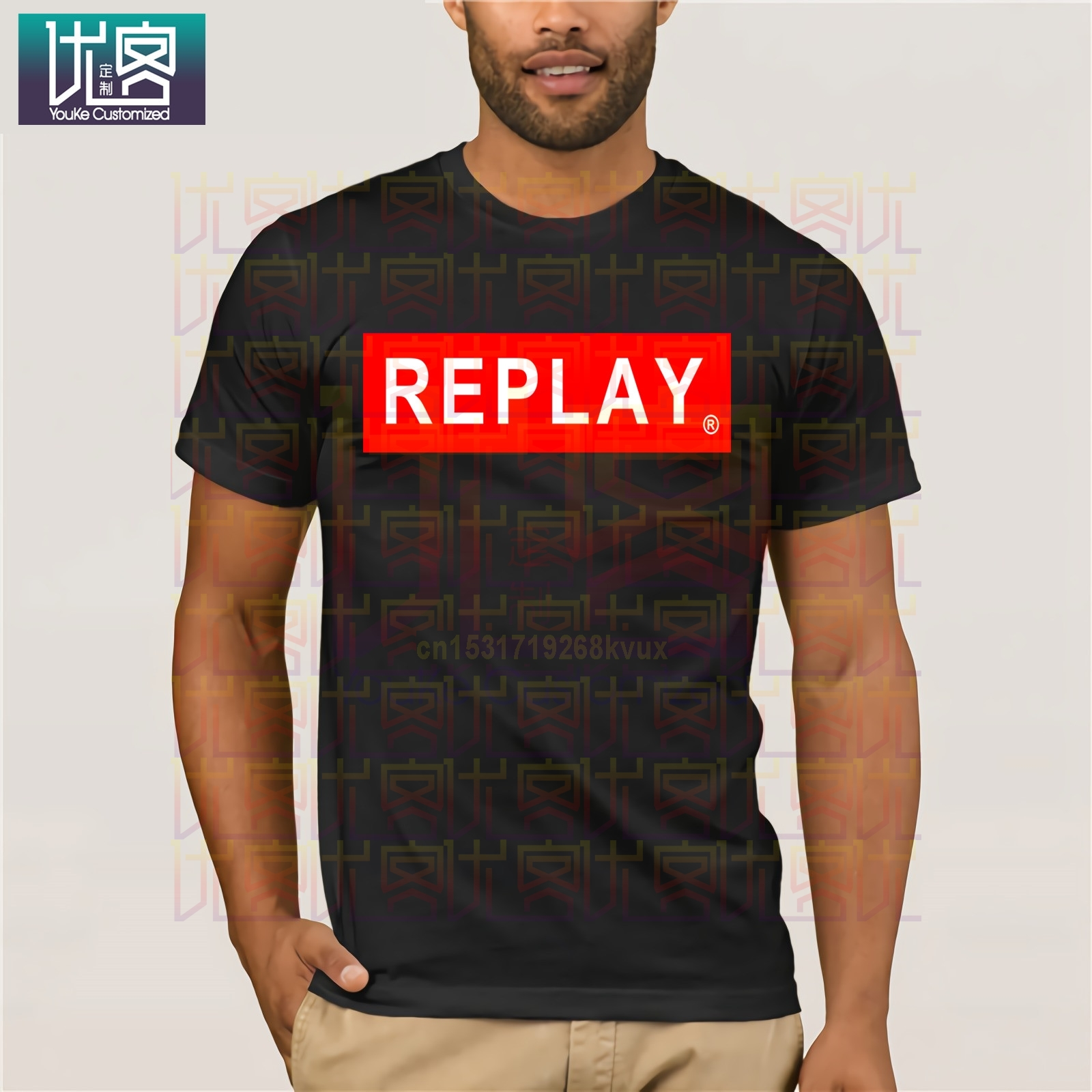 Song REPLAY-  Cotton Tee Shirt Present Amazing Short Sleeve Unique Casual Tees 100% Cotton Clothes Cotton Tee Shirt Present