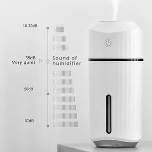Image 4 - 加湿器アロマディフューザー led ランプクールミスト調整可能な輝度ミストモード加湿器ホームデスクオフィス