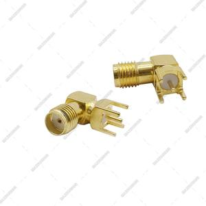Image 2 - 3000pcs Gilt SMA Female PCB Right Angle Connector Welding Jack Thru Hole Plug 90 Degree PCB Mount Connector RF Adapter