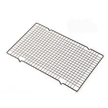 1pc de aço inoxidável antiaderente rack de resfriamento se encaixa assadeira, resistente, forno seguro para assar cozinhar grelhar 28x25.5cm
