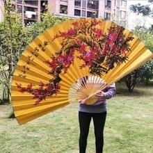 Подвесной вентилятор декоративный вентилятор китайский стиль ремесло шелковая ткань вентилятор большой складной вентилятор жизни c
