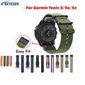 Ремешок для часов Garmin Fenix 5 5X 3 3 HR Fenix 6X 6 6S S60 MK1  26  22 мм  быстросъемный нейлоновый ремешок для часов Easyfit
