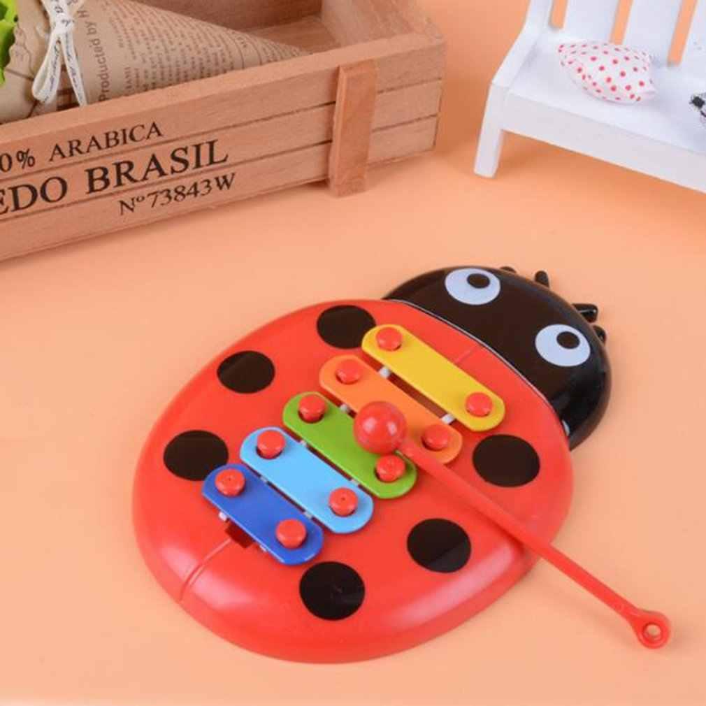 يدوي تدق البيانو ألعاب تعليمية اليد القيثارة صبي فتاة الموسيقية لعبة طفل 8-نوت إكسيليفون لمدة 0-3 سنوات الأطفال طفل صغير