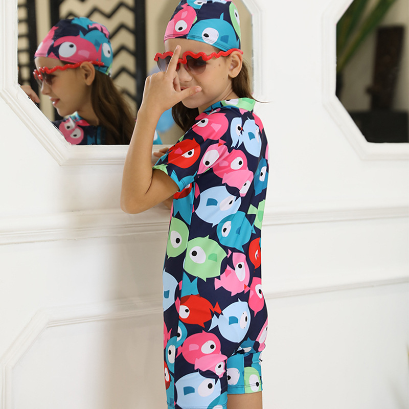 Girl'S Swimsuit Hot Springs Small CHILDREN'S Korean-style Baby Swim Bathing Suit Women's Kids 1-3 Years Old Infants One-piece Sw