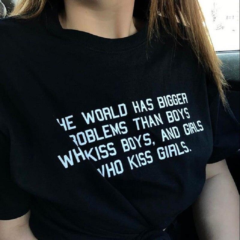 Sunfiz YF женская футболка с большими проблемами, чем мальчики, девочки, девушки, звёзды, лесбиянки, геи, бисексулы
