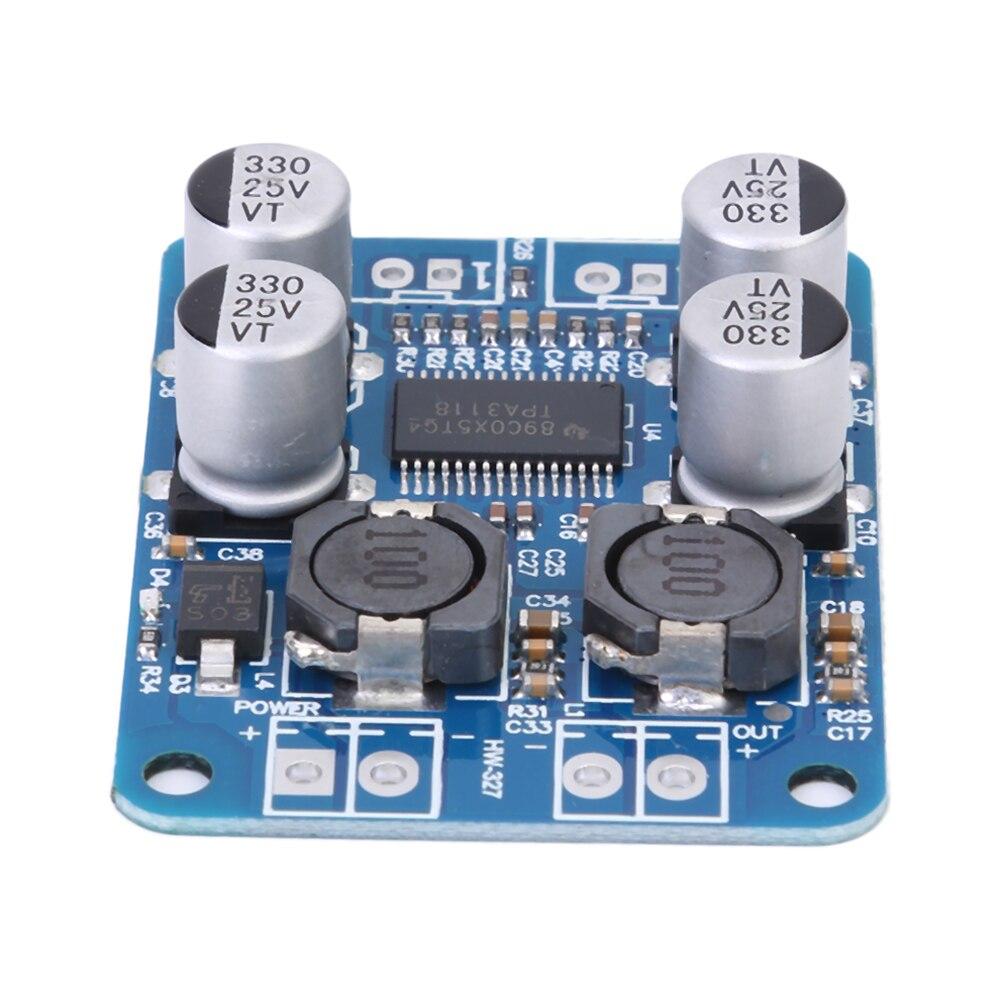 TPA3118 PBTL Universal Mono DC8-24V 60W Digital Audio Amplifier Board AMP Module Chip 1X60W 4-8 Ohms Replace TPA3110