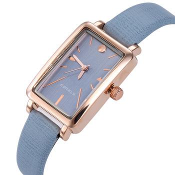 Prosty prostokąt zegarki kwarcowe damskie luksusowe zegarki na rękę damskie zegarki na rękę kobieta elegancka kobieta zegarek kobiety Relogio Feminino tanie i dobre opinie jenises QUARTZ Klamra STAINLESS STEEL 3Bar Moda casual 12mm Odporny na wstrząsy Odporne na wodę Hardlex CMY020_8 22 5cm