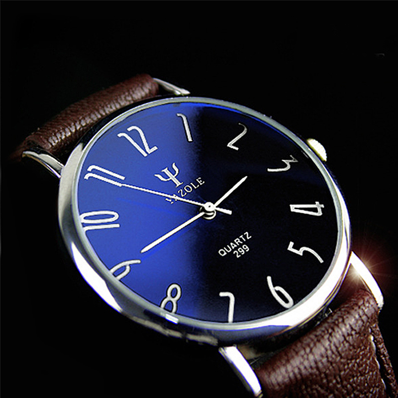 Designer YAZOLE Couple Watches for Lovers Quartz Watch Men Fashion Womens Wristwatches Ladies Pu Leather Blue Ray relogio reloj