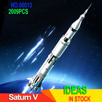 2009PCS Apollo Saturn V Space Carry Compatible 21309 37003 Rocket Brick Model Children Educational Toy Gift