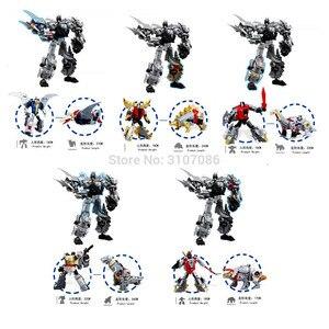 Image 4 - Bmb 変換 dinoking volcanicus ボックス男児スラグ汚泥うなり声急襲スラッシュ dinobots 5IN1 合金アクションフィギュアロボットのおもちゃ
