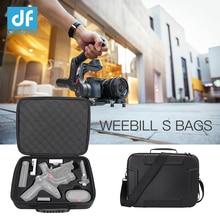 Df digitalfoto à prova ddf água saco de mão caso transporte portátil proteção armazenamento para zhiyun weebill lab/s