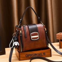 цена на Pu Leather Bag Women Bucket Messenger Bags For Women 2020 Vintage Crossbody Bag Female Small Side Shoulder Sac Main Femme