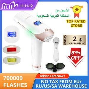 Image 1 - Lescolton 2в1 IPL эпилятор для удаления волос ЖК дисплей машина T009i лазер постоянный бикини триммер электрический эпилятор лазер