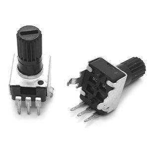 Вертикальный резистор Rv09, 10 шт., 12,5 мм, 1k, 2k, 5k, 10k, 20k, 50k, 100k, 0932, регулируемый резистор, 9 типов, 3pin, герметизирующий потенциометр, Прямая поставка