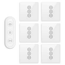 Tuya Smart Leben Vorhang Schalter Fernbedienung Jalousien Motor Rollladen RF + WIFI App Timer Google Home Aelxa Echo smart Home