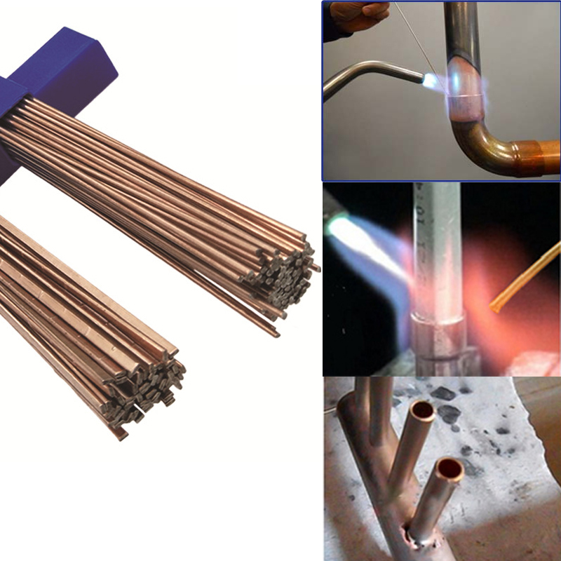5/10/20Pcs 1.0mm/2.0mm*500mm Brass Welding Rod Bronze Welding Wire Electrode Soldering Rod No Need Solder Powder Welding Rod