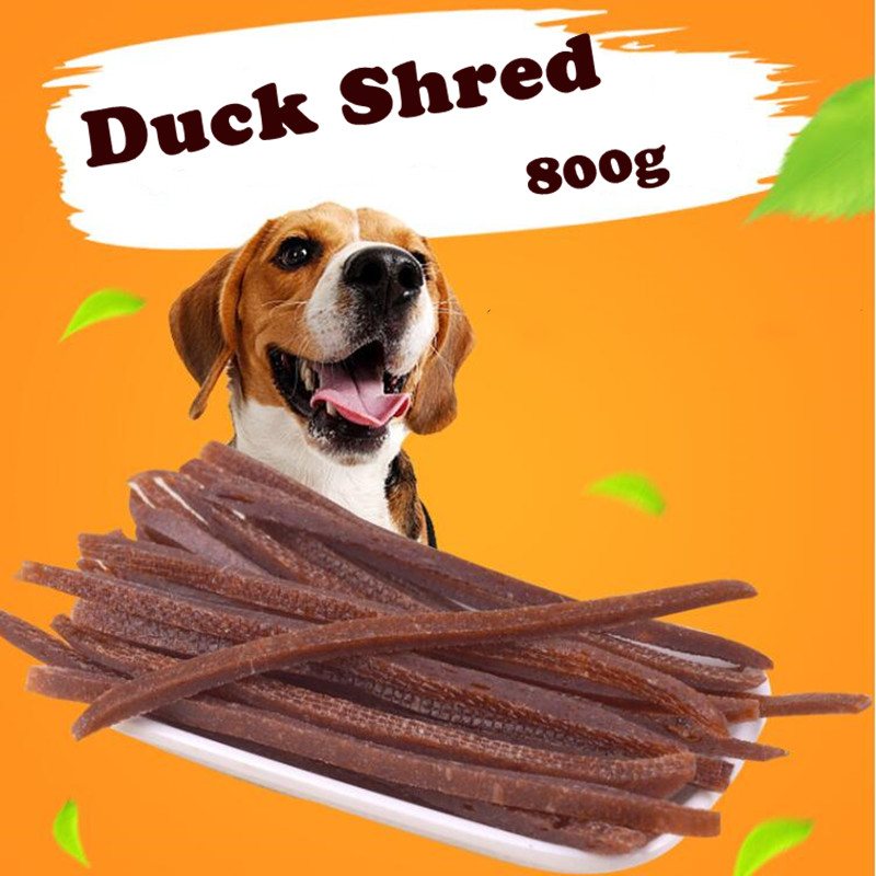 800g Duck Shreds Dog Cat Snacks Duck Meat Pet Food Keep Healthy Delicious Meat Snacks Molar Bar Clean Teeth Duck Strip For Pet