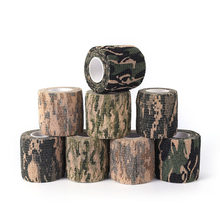 2 Pcs Roll Camouflage Wrap Bandage 4.5M Self-Adhesive Gun Decor Military Stretch Medical Bandage Camouflage Tape(China)
