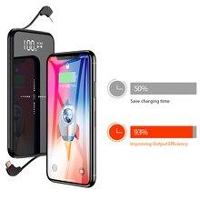 Portable Qi Wireless Charger Power Bank 10000mAh For Xiaomi iPhone Slim Poverbank External Battery Fast Charging USB Powerbank стоимость