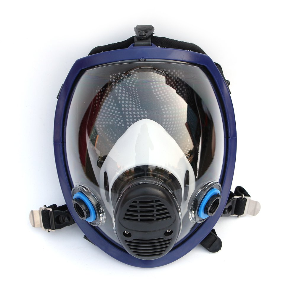 Chemical mask 6800 7suits 6001 Gas Mask acid dust Respirator Paint Pesticide Spray Silicone filter Laboratory cartridge welding|Chemical Respirators| |  -
