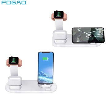 FDGAO 3 in 1 Charging Dock Station Bracket For Apple Watch 5 4 3 2 Airpods Pro iPhone 11 pro X XR XS MAX 8 7 6S Plus USB Charger