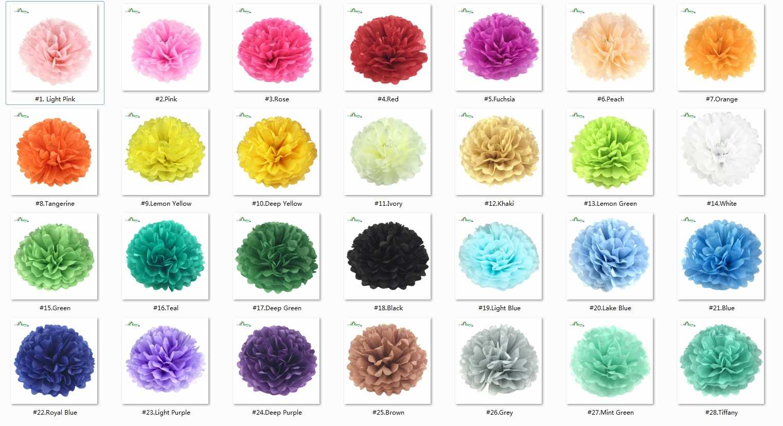 Pompons de papel decorativos para casamento, bolas de 10cm, 15cm, 20cm, 25cm, decoração de casamento, bolas de 4, 6, 8, 10 polegadas decoração de decoração de aniversário
