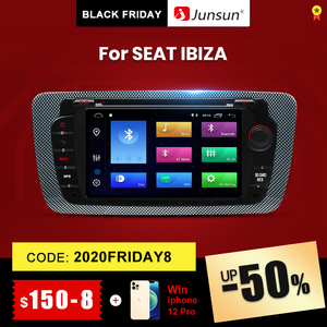 Junsun Android 9.0 Car DVD Radio For Seat Ibiza 6j 2009 2010 2012 2013 GPS Navigation 2 Din Screen radio Audio Multimedia Player