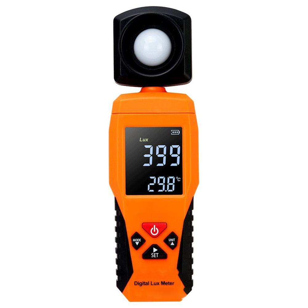 2019 Digital Luxmeter Light Meter Lux Meter Luminometer Photometer Lux/FC Temperature Tester Spectrometer Spectrophotometer