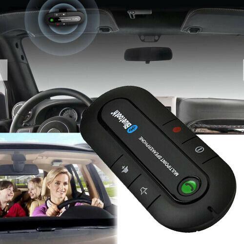 New Wireless Bluetooth HandsFree Speaker Car Kit Visor Clip for Smart Phone Mobile Multipoint Speakerphone
