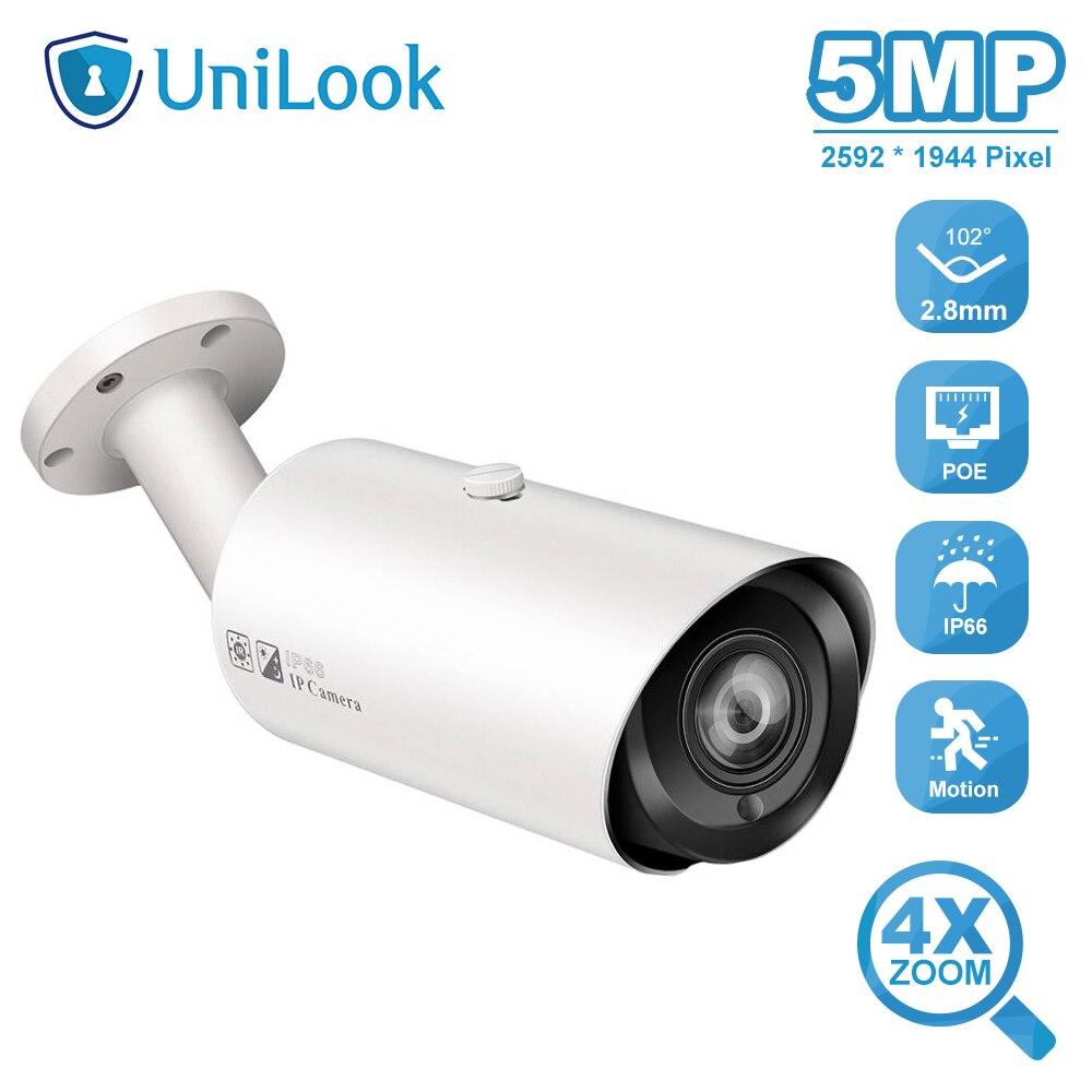 UniLook 5MP balle IP caméra Support 4X Zoom intégré Microphone fente pour carte SD sécurité extérieure étanche IP66 H.265 ONVIF P2P
