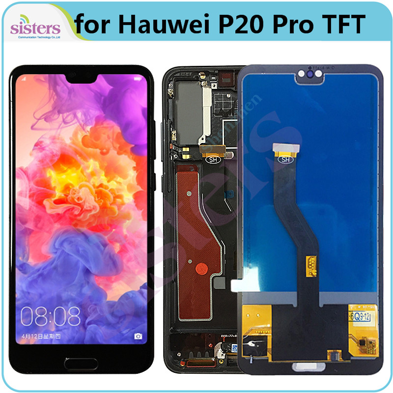 LCD For Huawei P20 Pro LCD Screen LCD Display For Huawei P20Pro Touch Screen Digitizer CLT-L09 L29 AL00 AL01 AL00L Screen Tested