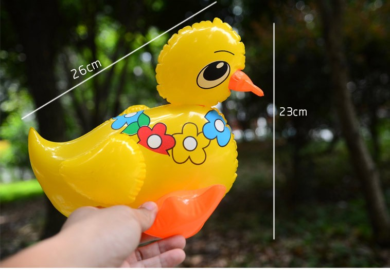 Inflatable Animal Drake Small Lovely Cute Adorable Duck With Flowers Inflatable Pvc Toys Rhubarb Ducks Animals Model Children