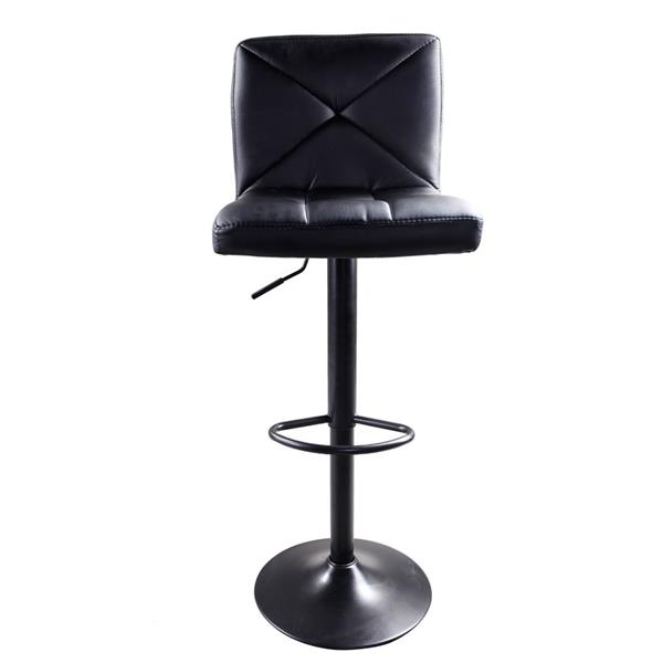2pcs Adjustable High Type Disk Without Armrest Crossover Design Bar Stools Black , Easy To Clean , Salon Chair , Bar Chair.