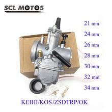 SCL MOTOS 1 قطعة العالمي كيهين كوسو PWK دراجة نارية المكربن 21 24 26 28 30 32 34 مللي متر ل 2T 4T سباق الترابية دراجة ATV