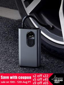 Baseus Inflator-Pump Bike Car-Air-Compressor Tire-Pressure-Detection Digital Motorcycle