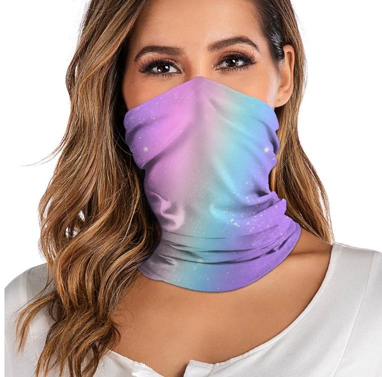 3D digital printed women's outdoor Bandana Breathable Face Scarf Fishing Cycling Sport  Elastic Tube Neck Gaiter headband scarf