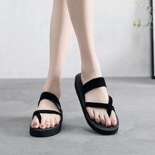 2019 New Women Summer Non-slip Platform Shoes Wedges High Heel Woman Outdoor Beach Slippers Sandals sapato feminino