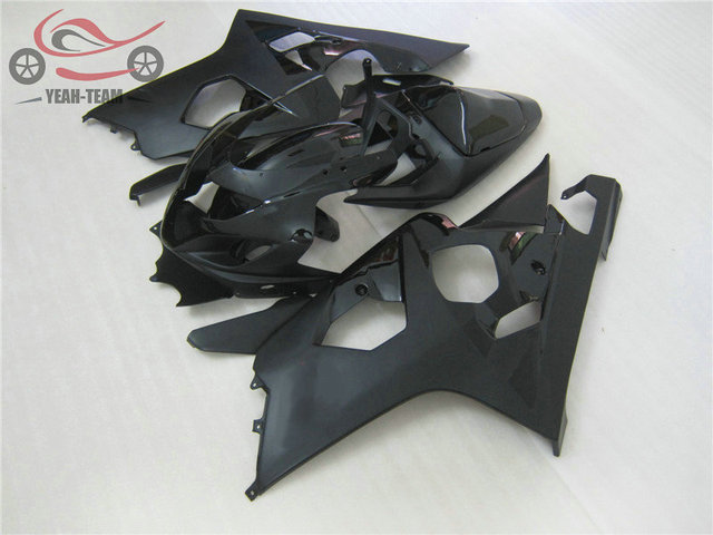 High quality ABS fairings set for Suzuki GSXR600 2004 2005 GSX R750 K4 04 05 GSXR 600 750 matte black motorcycle fairing parts