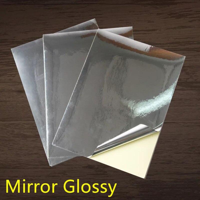 A4 Glossy Sliver PET Inkjet Label  Waterproof  High Temperature Scratch Resistance For Ink Printer