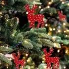 10 шт. деревянный Рождественский праздник висячие украшения ремесла Рождественские Подвески мешковины веревки Висячие висячие украшения н...