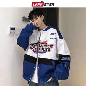 Image 4 - LAPPSTER Men Patchwork Streetwear Bomber Jackets 2020 Autumn Mens Korean Fashions Windbreaker Harajuku Hip Hop Jackets Coats