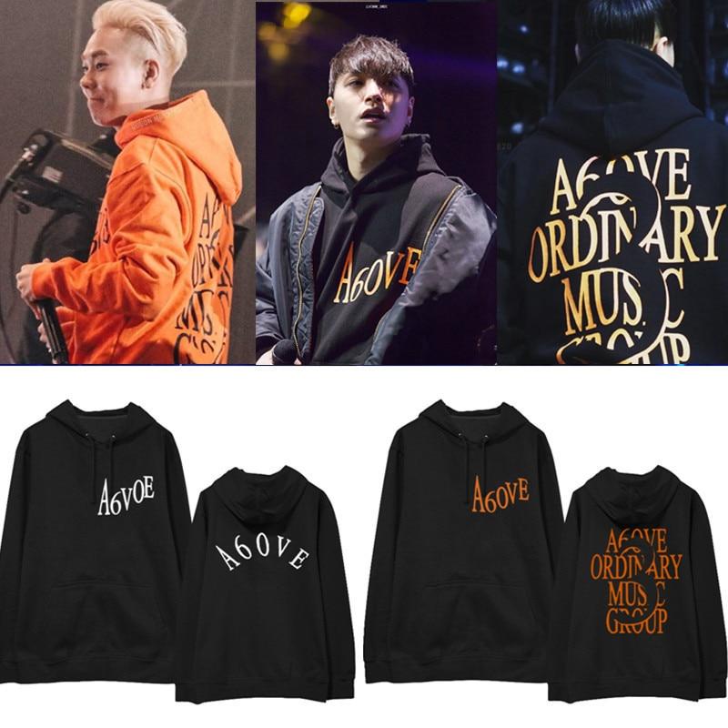 AOMG Jay Park Gray Simon D Loco Hoodies Sweatshirts Men Women Pullovers Loose Streetwear Hooded Tops Rap Hip-hop Fans Clothes
