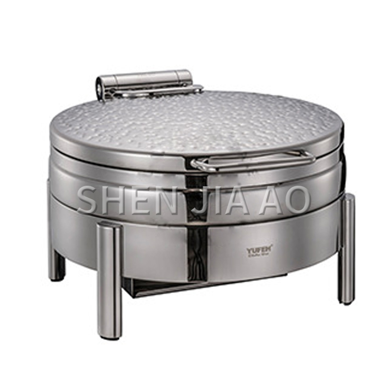 Stainless steel round sauce stove commercial soup pot Soup sauce container Round cover (for induction cooker) food tableware 1PC|Food Processors| |  - title=