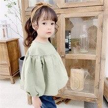 Girls Autumn Shirts  Korean Cotton T-shirt Fashion Long Sleeve modis Doll Shirt Baby clothes girls blouses1