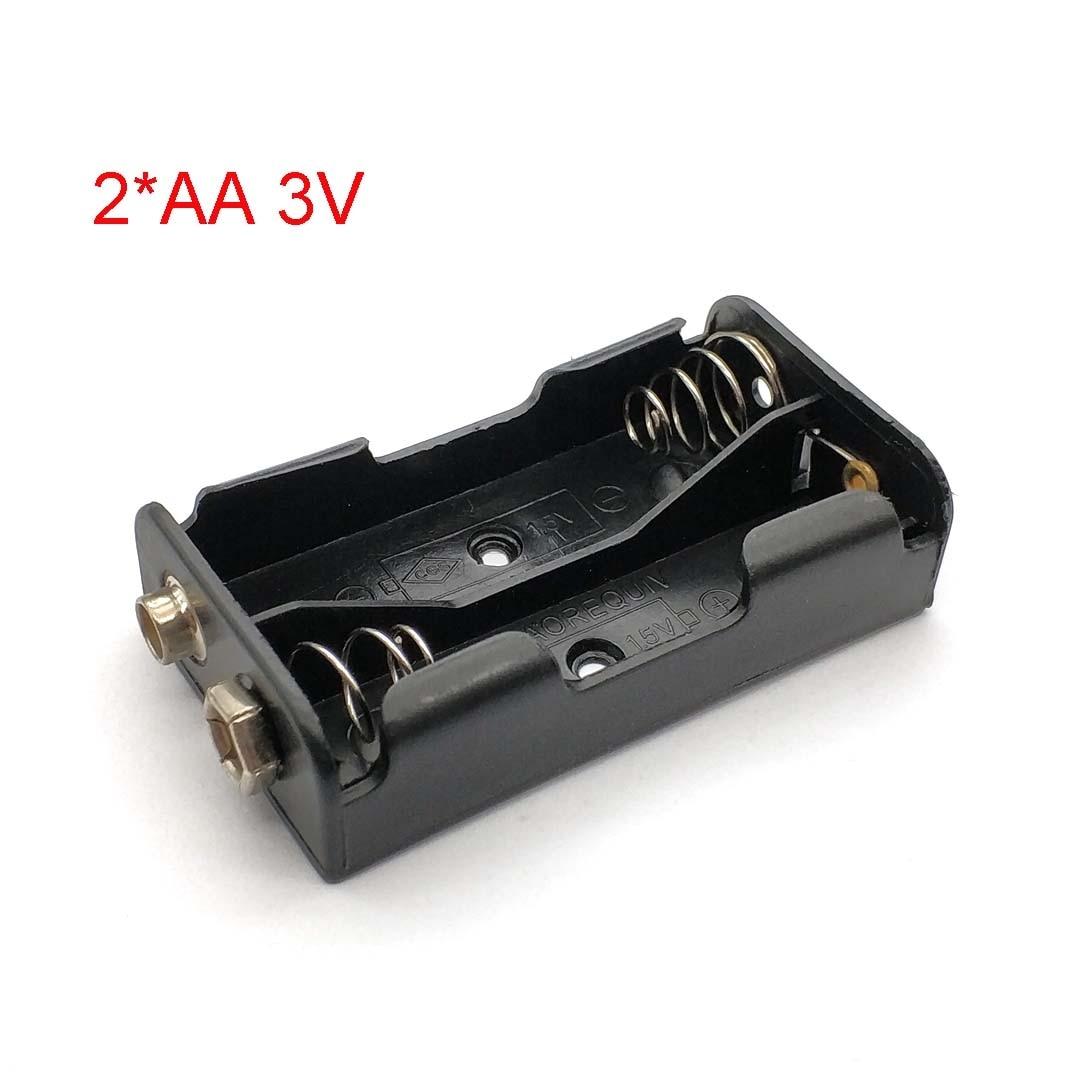 Side By Side 3 2 * AA V Caixa de Armazenamento Caso Suporte Da Bateria AA Com 9V Positivo & Negativo fivela Caixa de Terminal Da Bateria